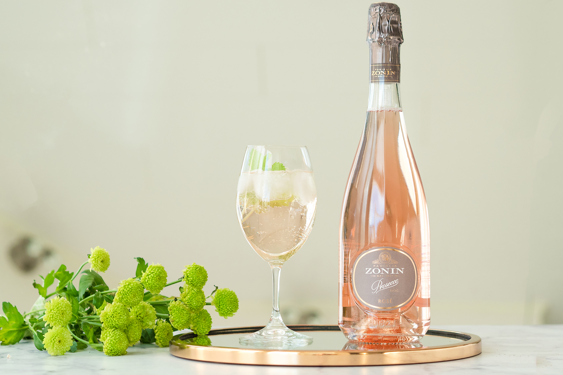 Zonin Prosecco Rosé cocktail: Rosé Hugo